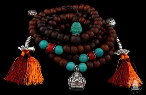 Photo of #0225 Tibetan Mala with Coral and Turquoise