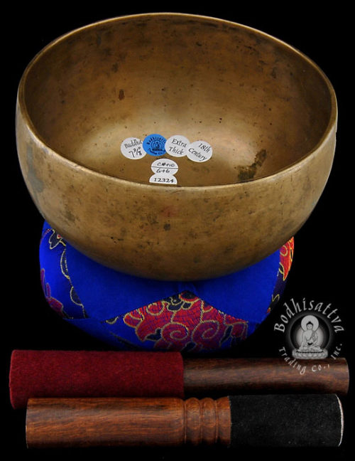 Photo of #12324 Antique Thadobati singing bowl from Bodhisattva Trading Co.