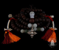 Photo of #0228 Mala with Bodhi seed beads, Mutton Fat and Tibetan Jade